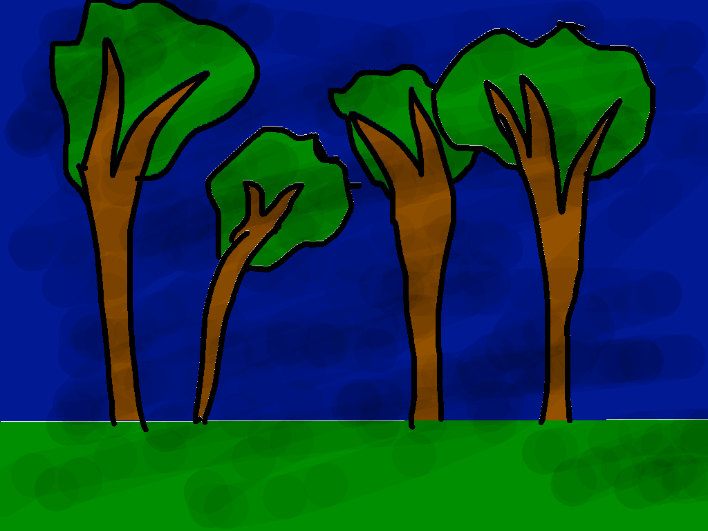 background scene - forest