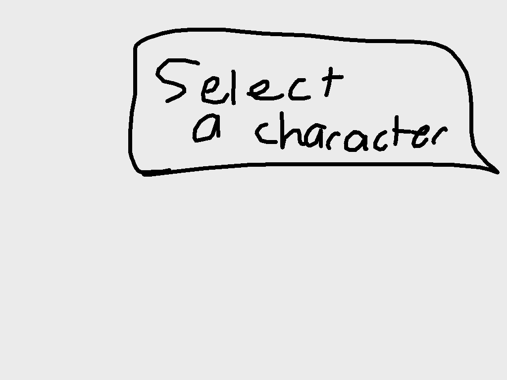 background scene - Select a character