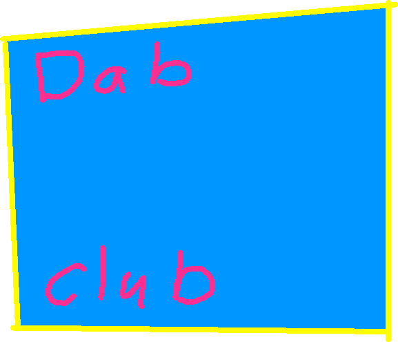Dab club button - drawing