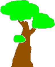 back trees - drawing