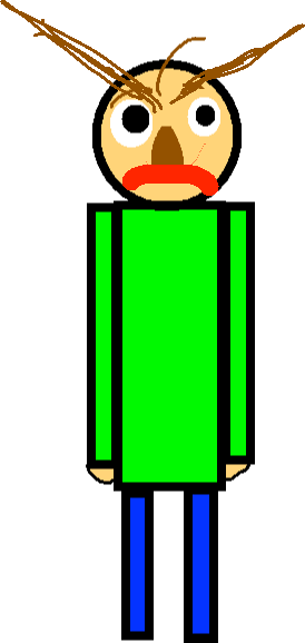 Baldi - Oh no. Now he's mad.