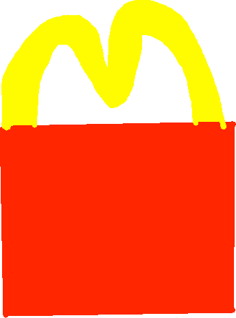 happy meal - drawing