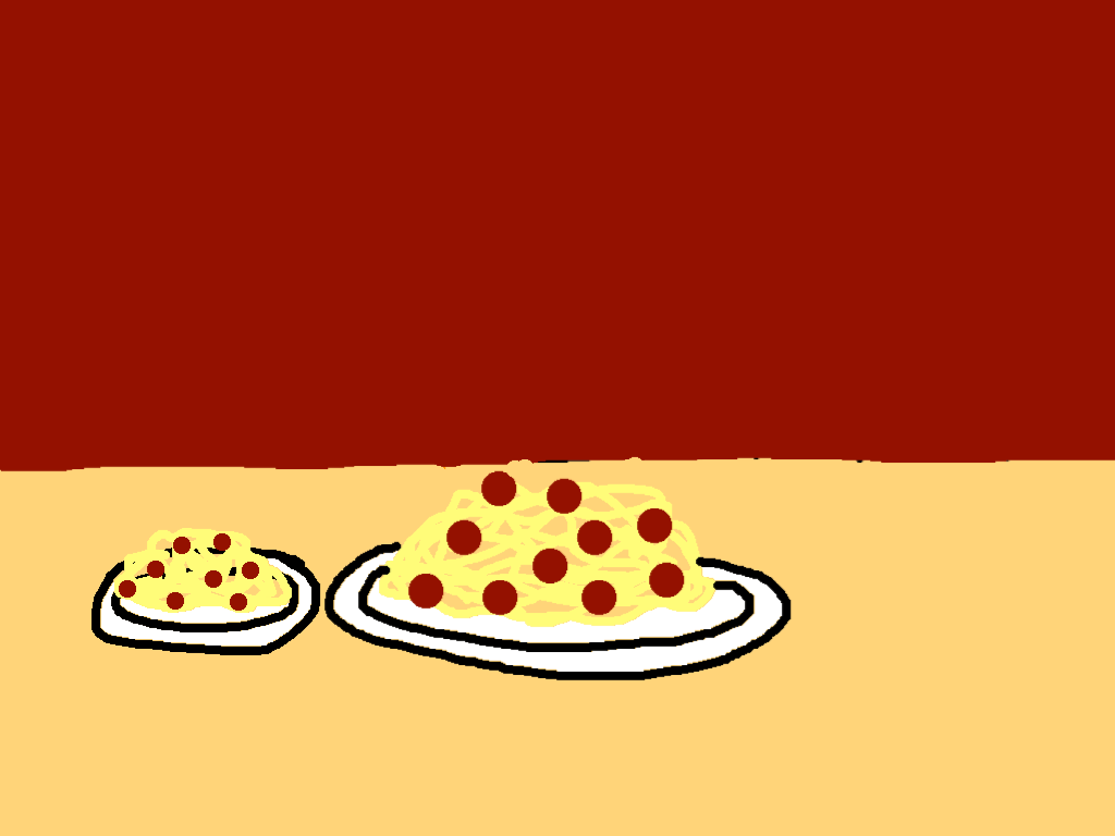 background scene - spagetti table