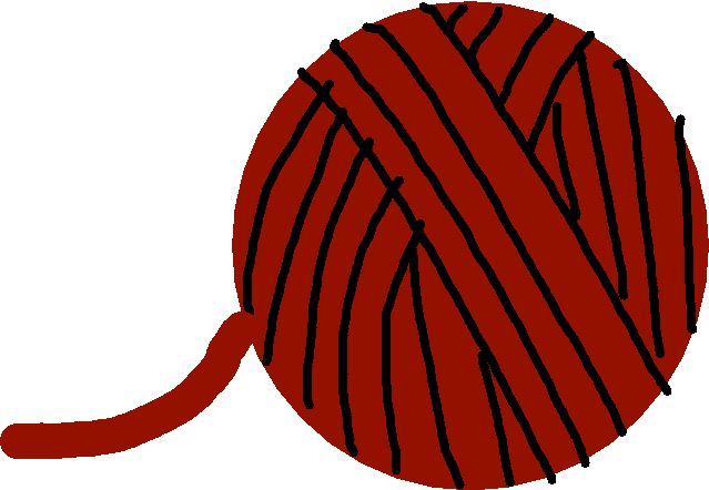 ball of yarn - drawing
