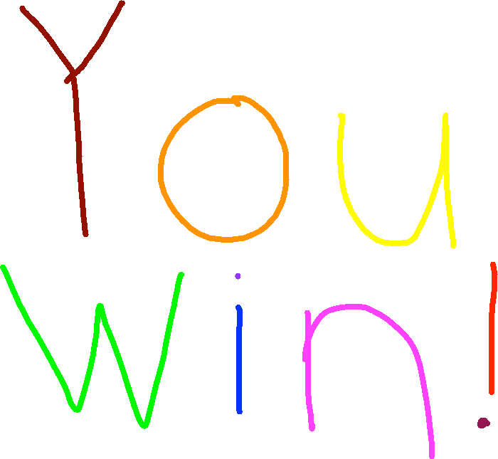 You win! - drawing