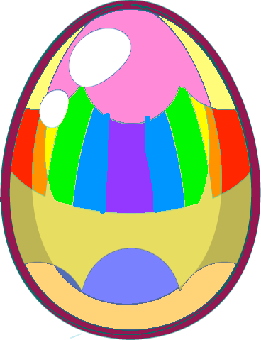Egg - blue yellow egg copy