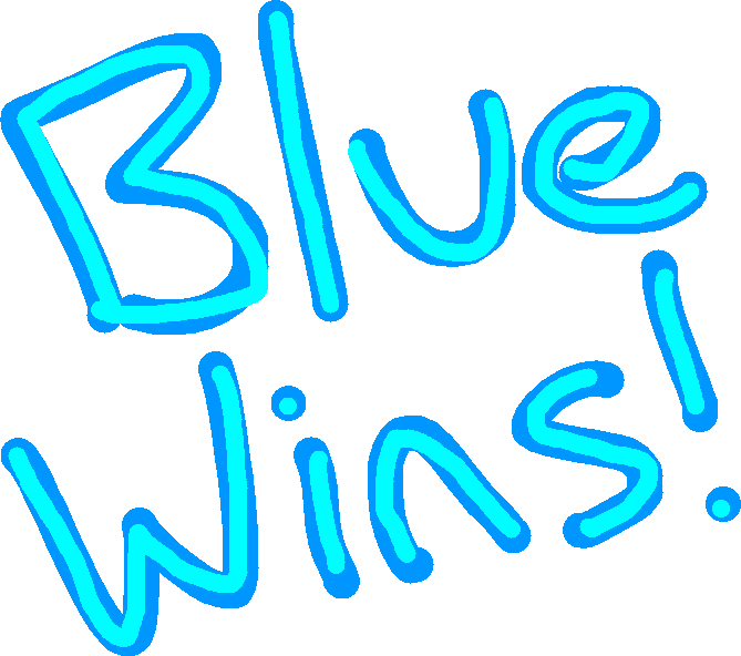 win tag - blue win