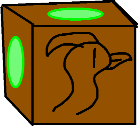 Bronze Crate - drawing