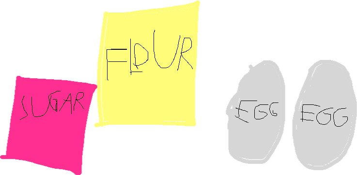 Flour,Sugar,Eggs - drawing