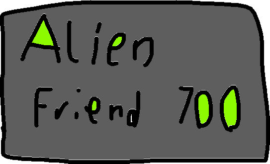 Alien friend sign - drawing