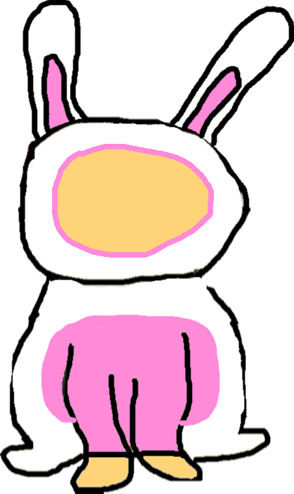 drawing - bunny costume