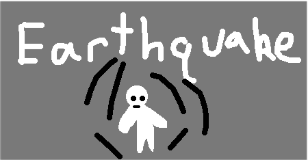 earthquake - drawing