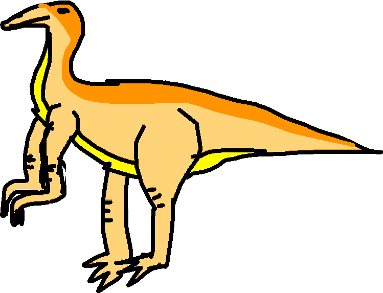 Gallimimus Kick - drawing