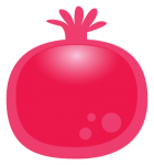 sticker icons fruit-181 - Pomegranate