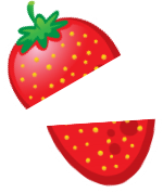 sticker icons fruit-09 - StrawberryCut