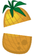sticker icons fruit-12 - PineappleCut