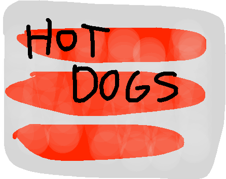hot dogs - drawing