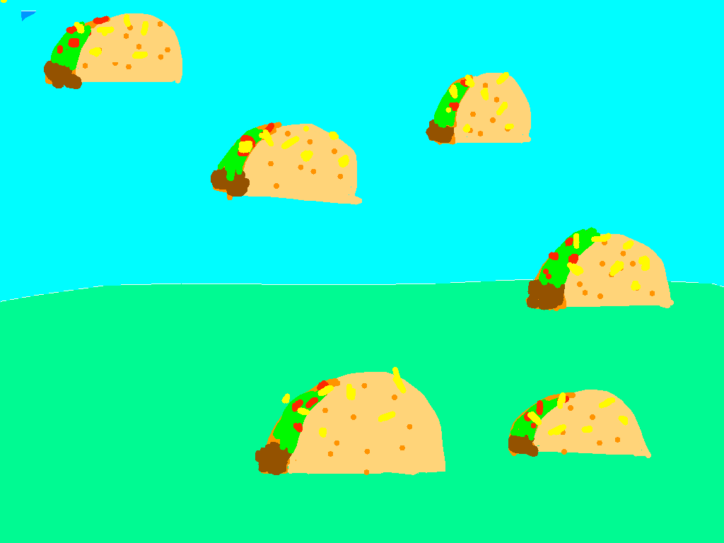 background scene - flat land with tacos copy