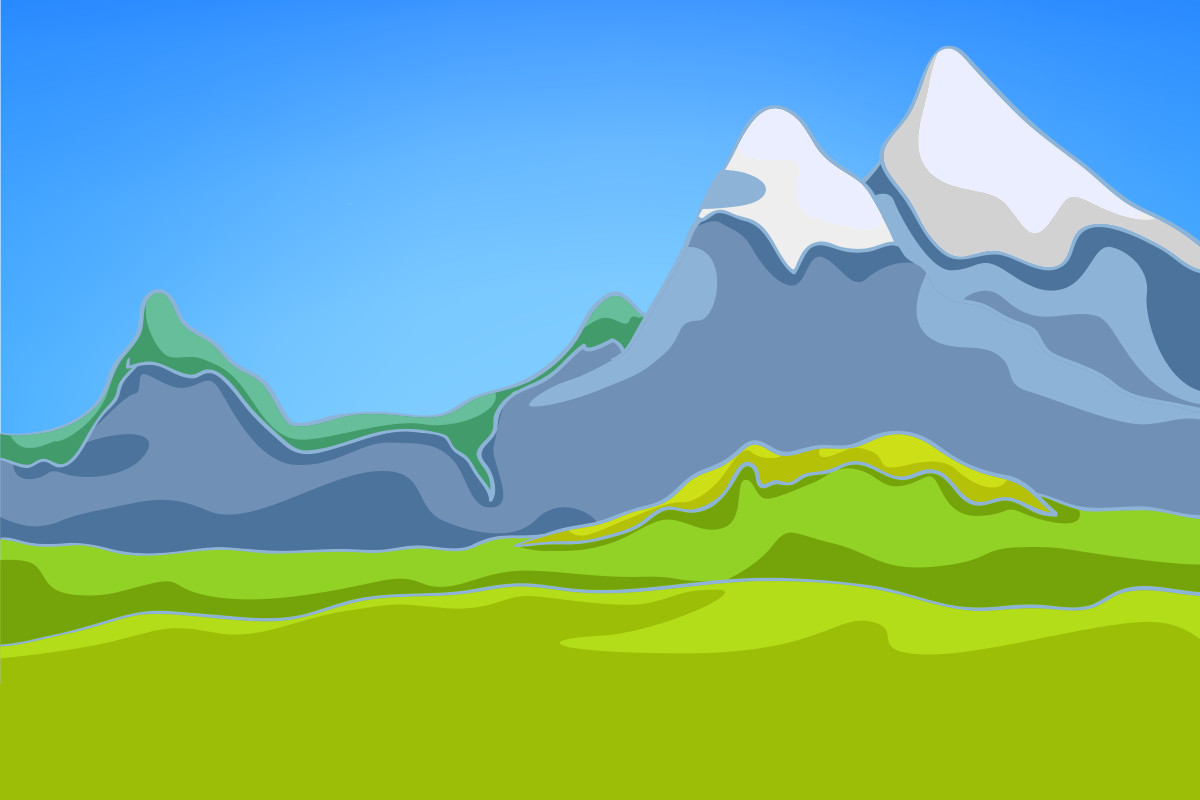 background scene - Outdoor Mountains