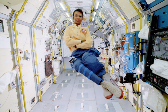 background scene - Spaceflight Mae Jemison