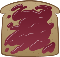 Finished Toast - Toast with Jam