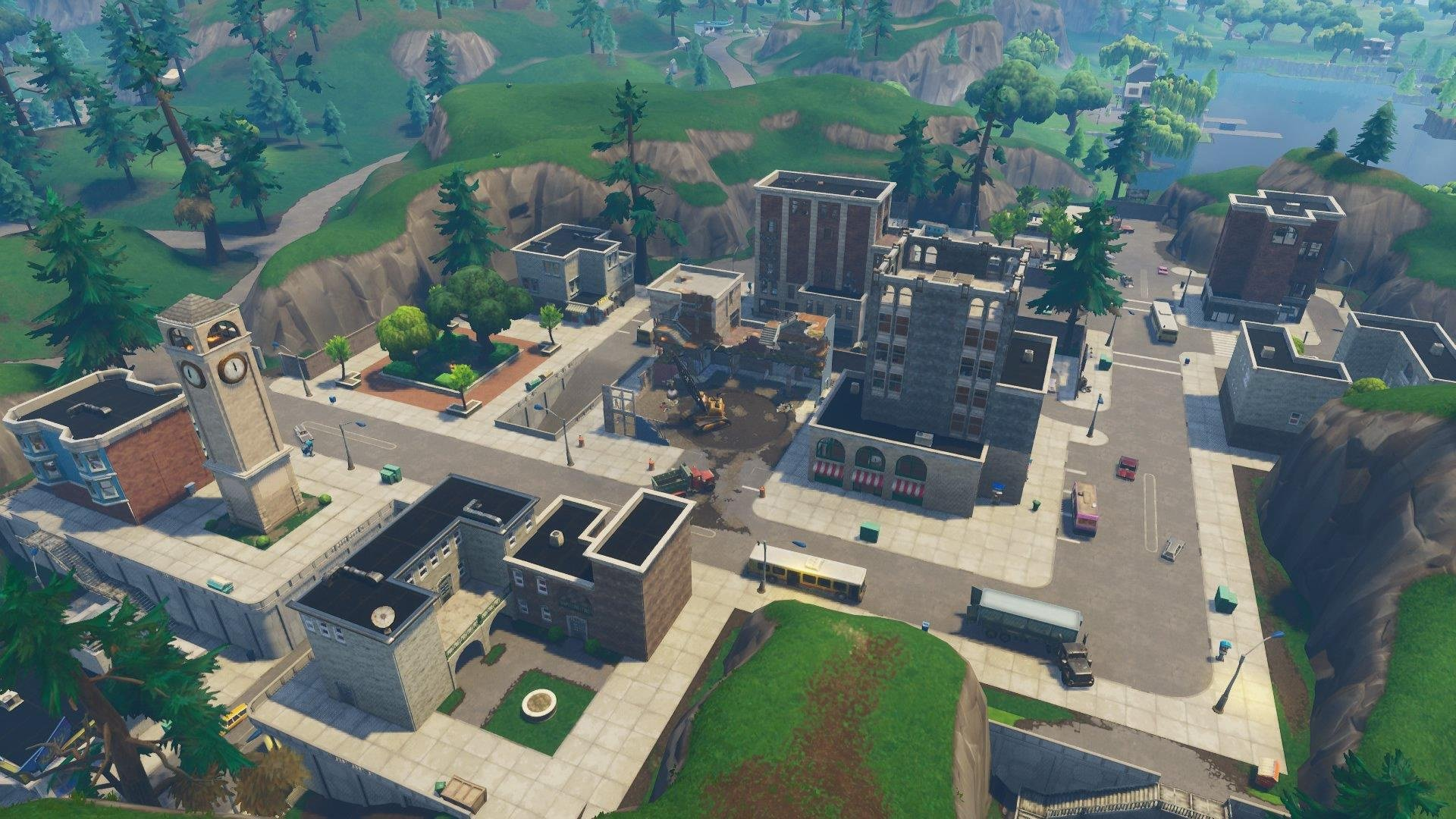 background scene tilted towers2 - fortnite background hd png tilted