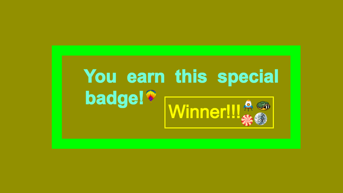 background scene - winners badge
