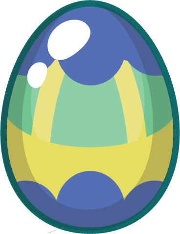 Egg - blue yellow egg