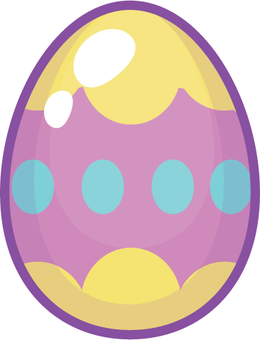 Egg - purple yellow egg