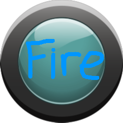 Fire Button - Cyan Button Off
