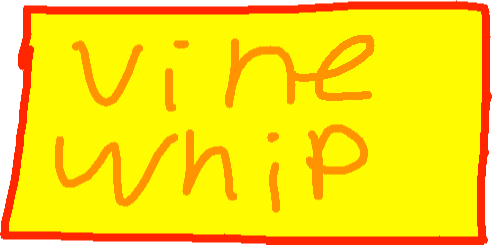 vine whip attack - drawing