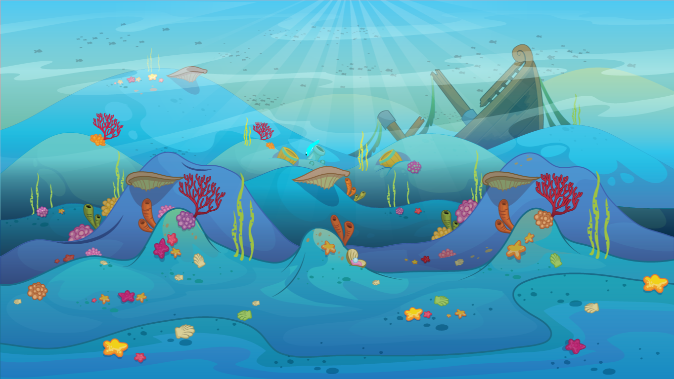 background scene - Underwater Landscape