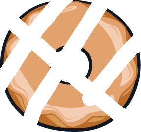 Glazed Doughnut - Glazed Doughnut Sliced