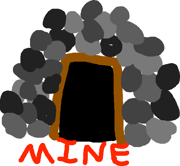 mine - drawing