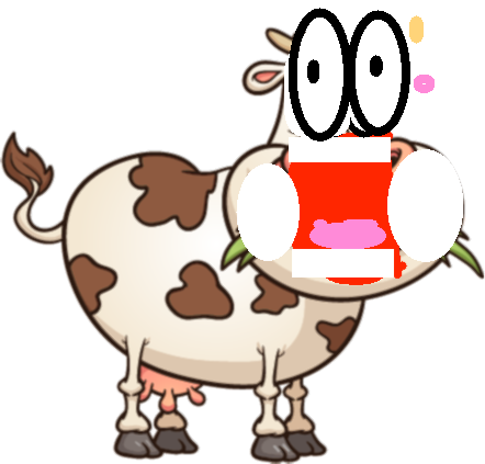 Cow - cow eating copy