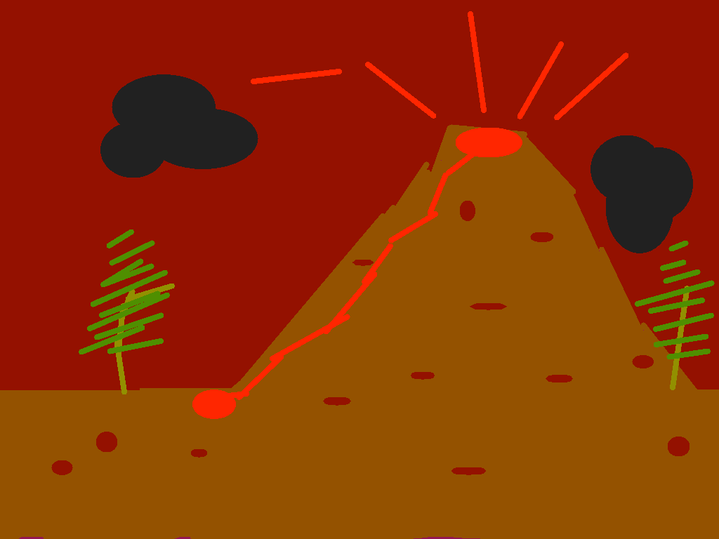 background scene - volcano