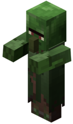 villager zombie - image