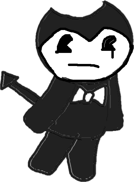 drawing - bendy sad