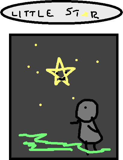 little star - drawing