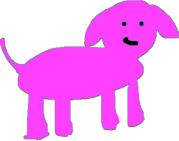 dog - with dye