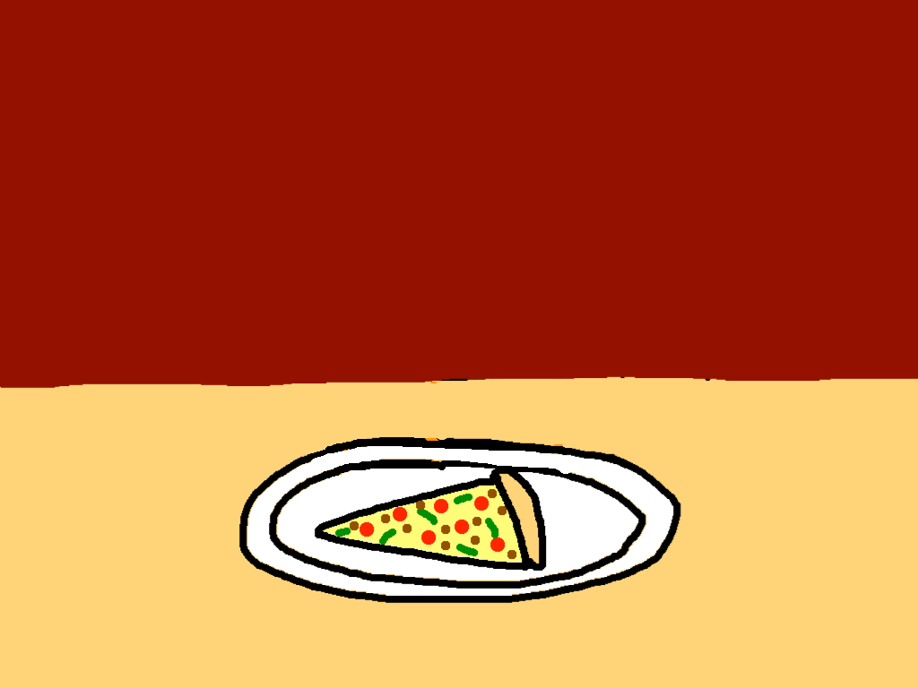 background scene - pizza table