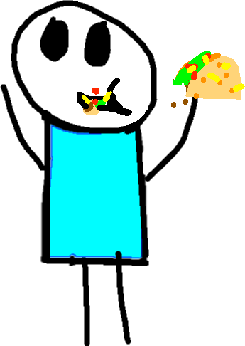 Dancer - eating taco