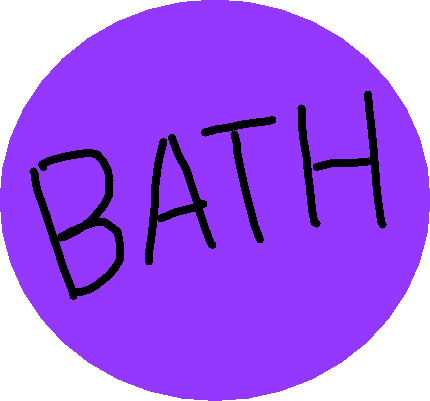 bath button - drawing