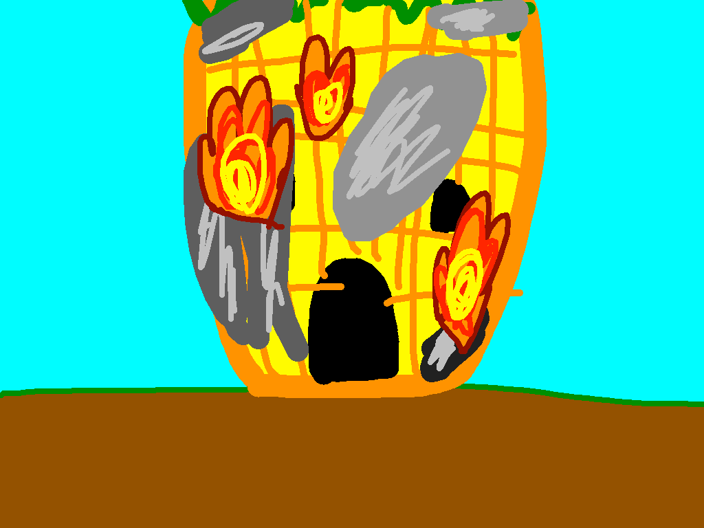 background scene - pinaple fire