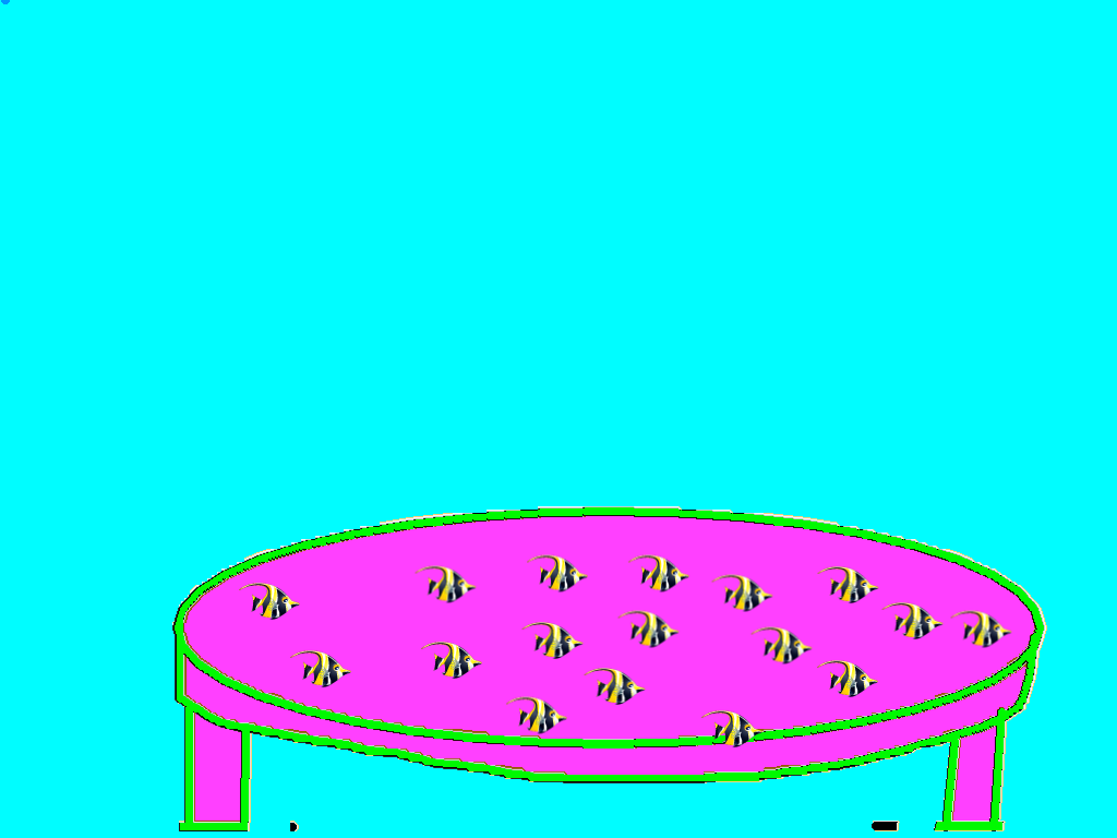 background scene - table for fishbowl