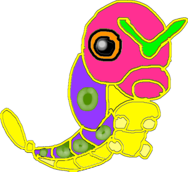 caterpie - drawing