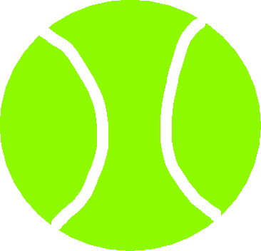 tennis ball - drawing