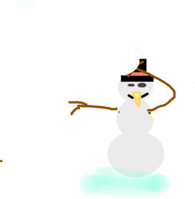 snow man - drawing copy copy