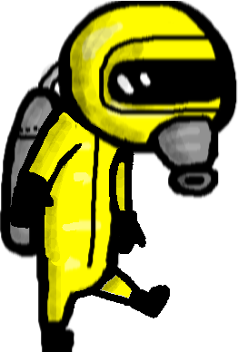 Guy in hazmat suit - kick