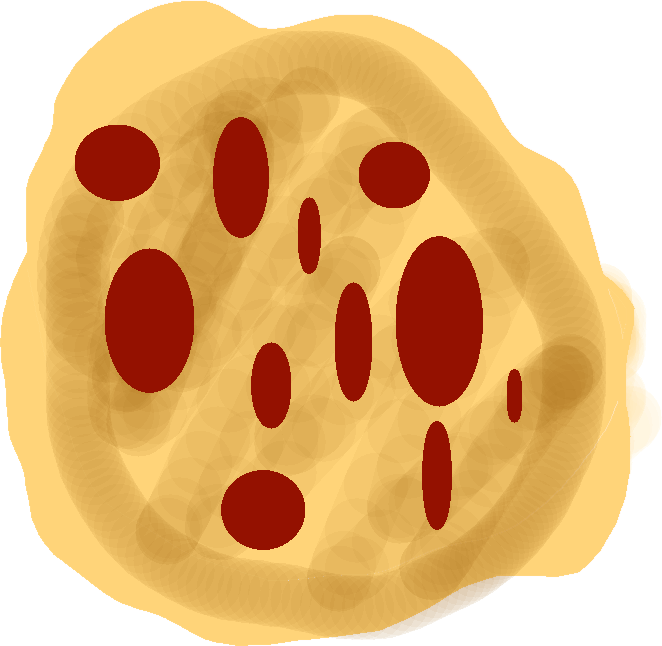 pizza - pizza with pepperoni